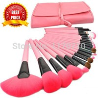 2017 Hot Professional 24pcs Makeup Brushes Makeup For You Brush Set Pink Cosmetic Brushes Including a Deluxe Carrying Case!