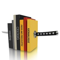 Katana Bookends (Size: 26cm by 16.5cm by 12.8cm)