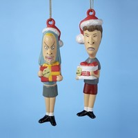 Beavis and Butthead Full Figural Blow Mold Ornament Set
