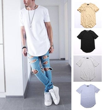 Men Fashion Summer Style T shirt Kanye West T-shirts Fear of god T-shirt  Season 3 Justin Bieber Crop Top Hip Hop Swag Tees