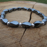 Mens Bracelet, Men Hematite Bracelet, Men Style, Jewelry For Men,