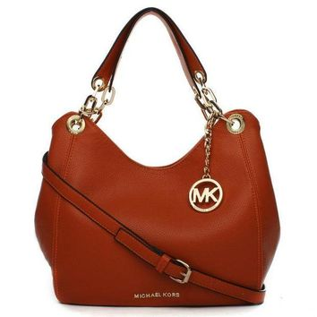 DCCKNQ2 Michael Kors MK Leather Handbag Tote Shoulder Bag Satchel-2