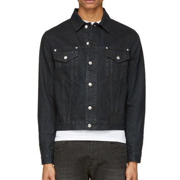 Mcq Alexander Mcqueen Navy Denim Jacket