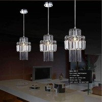 Modern Cottage 5w Chandeliers Ceiling Fixtures Flush Mount E14 Halogen Bulbs Chandeliers Crystal AC 220v Bedroom Home Lights