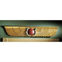 Egyptian Temple Sculptural Wall Pediment - NG32428 - Design Toscano