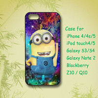 minions on, Galaxy, iPhone 4 case, iPhone 5 case, ipod case, samsung s3 case, samsung s4 case, note 2, blackberry Z10, Q10, Despicable me