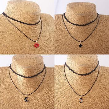 ca DCCKTM4 New Arrival Stylish Gift Jewelry Shiny Summer Simple Design Double-layered Necklace [10688606215]