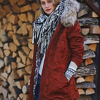 Free People Womens Hooded Quilted Coat