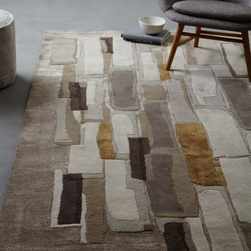Alabaster Tile Wool Rug