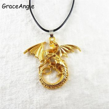 Man Jewelry Dragon Pendant Necklace Necklace For Men Christmas Gifts Chinese Style Dragon Pendant Long Sweater Necklace