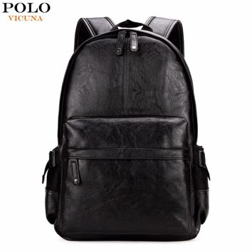 Top Brand Preppy Style Leather School Backpack