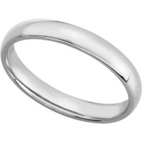 10K White Gold 4mm Comfort Fit Mens Plain Wedding Band (Available Ring Sizes 7-12 1/2)