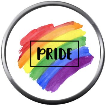Splash Art Pride Gay Lesbian Transgender Pride LGBT LGBTQ 18MM - 20MM Snap Jewelry Charm