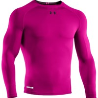 Under Armour Men's Power In Pink HeatGear Sonic Compression Long Sleeve Shirt - Dick's Sporting Goods