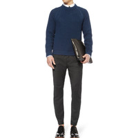 Lanvin - Tapered Wool and Cashmere-Blend Biker Trousers | MR PORTER