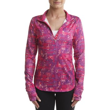 Reebok Womens Typetoken Yoga Fitness 1/4 Zip Jacket