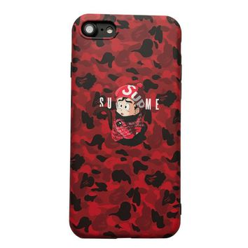 Newest Street Sup Soft silicon cover case for iphone 6 6Plus S 7 7 plus 8 8Plus X monkey Son Goku Japan Camouflage phone cases