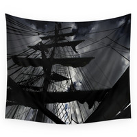 Society6 Sky View Through Flags Wall Tapestry