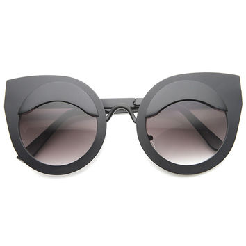 EYE LIDS POPPIN CAT EYE SUNGLASSES - BLACK