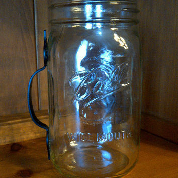 mason jar mug with rustic handle
