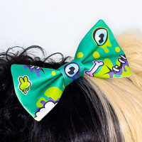 Zombie Creepy Cute Eyeball Monster Hair Bow Headband