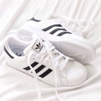 ADIDAS classic men's and women's fashion comfortable leisure wild sneakers F