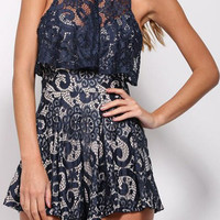 Blue Lace Romper