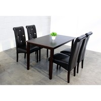 Warehouse of Tiffany 5-Piece Modern Black Dining Room Furniture Set