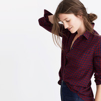 Shrunken Ex-Boyfriend Shirt in Gingham Check