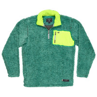 Piedmont Range Sherpa Pullover in Mint and Midnight Gray by Southern Marsh