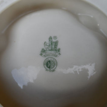 Vintage Belleek fine porcelain ashtray - Third green mark - 1970's Irish porcelain - fine home decor Irish Fermanagh ceramics