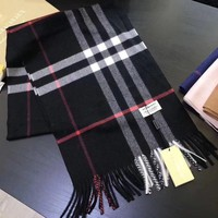 One-nice™ Black New!! Authentic Burberry 100% cashmere scarf