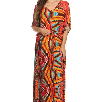 Raging Fury Kimono Dress (Orange)