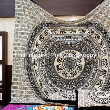 Indian Elephant Mandala Tapestry Boho Tapestries Hippie Wall Hanging Hippy Throw Bedspread wall tapestry Bohemian Decorative Wall Beach Art