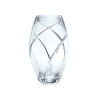 Tiffany & Co. - Swirl Cut elliptical vase in hand-cut crystal.