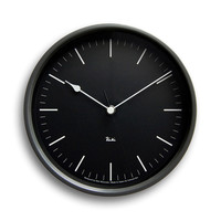 Itsu Steel Clock in Black
