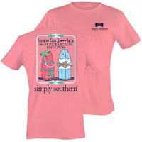 Simply Southern Southern Girls Love Southern Buoys Bright T-Shirt
