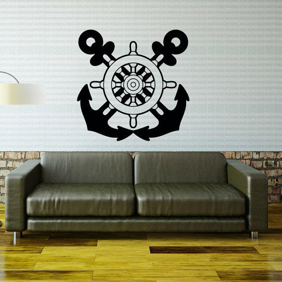 Anchor Wall Decal Ship Wheel Wall Decor From CoolVinylDesign On