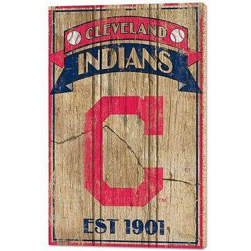"CLEVELAND INDIANS EST 1901 VINTAGE WOOD SIGN 15""X24'' BRAND NEW WINCRAFT"