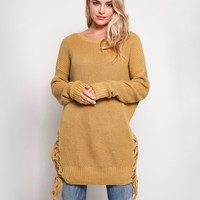 no bad days side grommet sweater - more colors