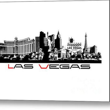 Las Vegas Skyline City Canvas Print
