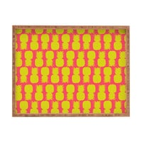 Allyson Johnson Neon Pineapples Rectangular Tray