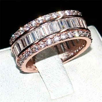 CHOUCONG JEWELRY 925 SILVER  ROSE GOLD PAVE SETTING FULL 5A ZIRC 1e8d22681