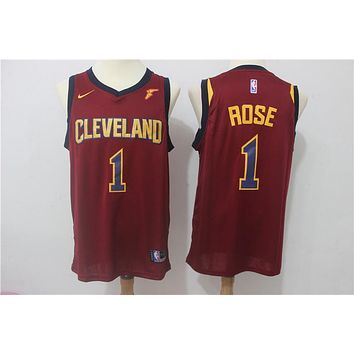 NBA Basketball Swingman Jerseys Cleveland Cavaliers # 1 Derrick Rose Red