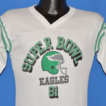 80s Philadelphia Eagles Kelly Green 1981 Super Bowl t-shirt Small