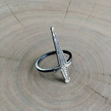 The Dagger Ring in Sterling Silver // The Armory Collection: Poison Apple Printshop X Mod Evil Studio