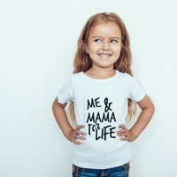 Me and Mama For Life, Hipster Baby, Toddler, Kid's Shirt, Mama's Mini, Mother's Day, Mom Gift, Baby Shower Gift, Mommy and Me, Mama's Boy