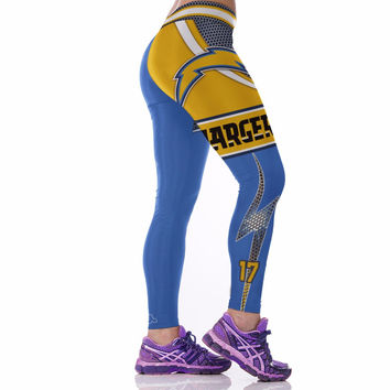 Kaywide 2017 Chargers 3D Print Breathable Yoga Leggings Women Sexy Push Up Pencil Pants Fitness Training Jeggings Sporty Leggins