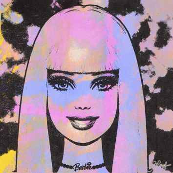 Barbie - Hand Pulled Silkscreen and Acrylic Painting on Canvas by Gail Rodgers