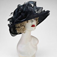 Black Gorgeous Woman Church Dress Hat
